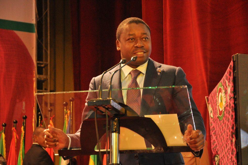 SEM Faure GNASSINGBE, Président en exercice de la CEDEAO, lors de son discours de lancement du Forum de Niamey